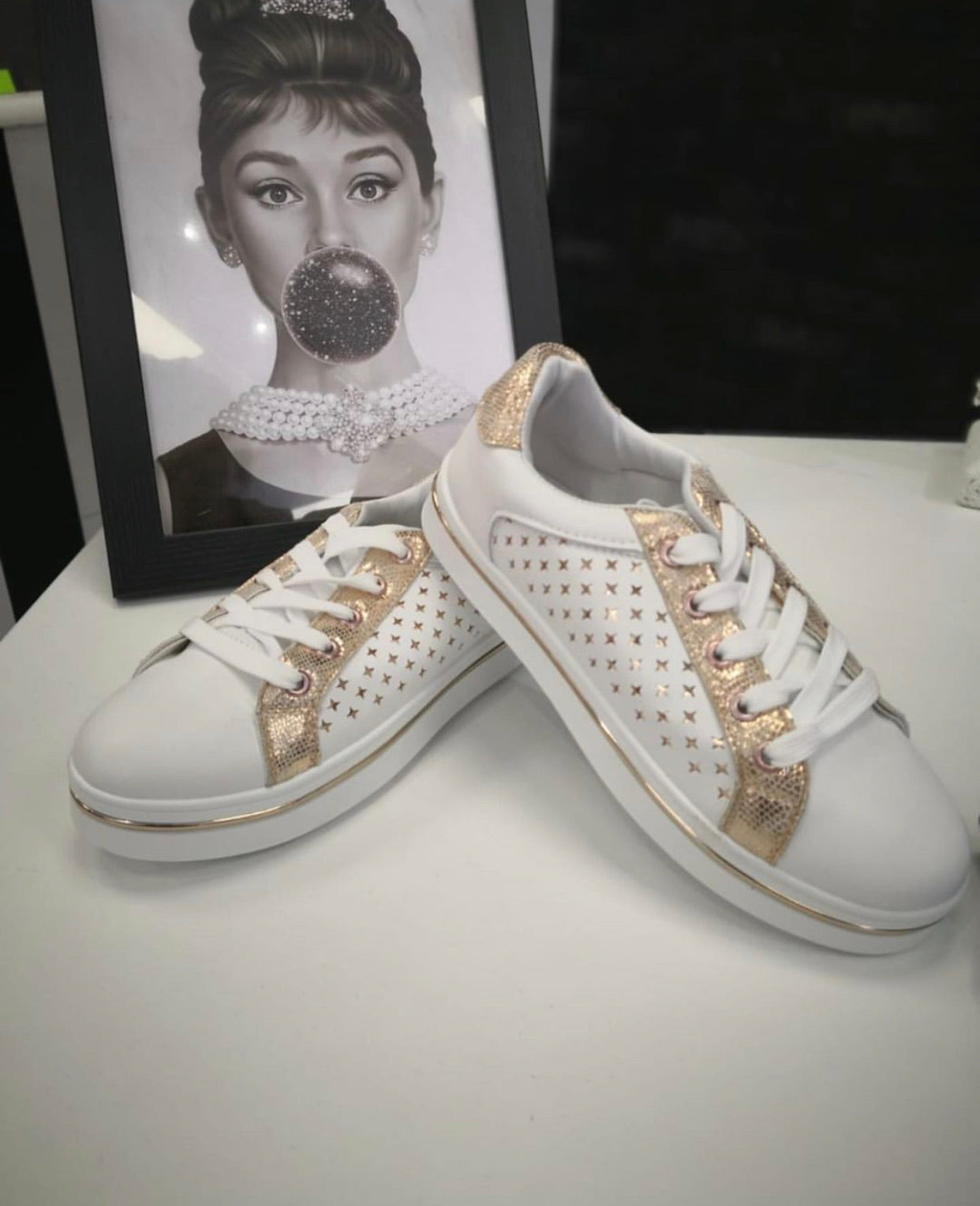 Rose Gold Trainers - LAST ONE - Pure Ladies Boutique
