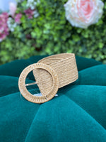 Load image into Gallery viewer, Elasticated Raffia Belt - Pure Ladies Boutique