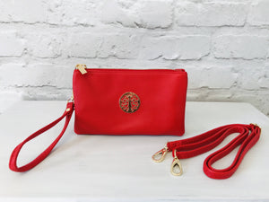 Clutch Bag - Red - Pure Ladies Boutique