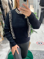 Load image into Gallery viewer, Pearl Knit Jumper - Pure Ladies Boutique