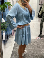 Load image into Gallery viewer, Dolly Denim Swing Dress - Pure Ladies Boutique