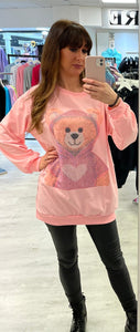 Diamanté Designer Double Bear Top. - Pure Ladies Boutique