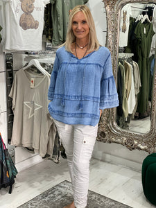 Sara Smock Top - Pure Ladies Boutique