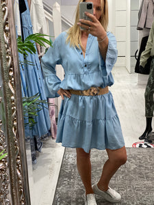 Dolly Denim Swing Dress - Pure Ladies Boutique