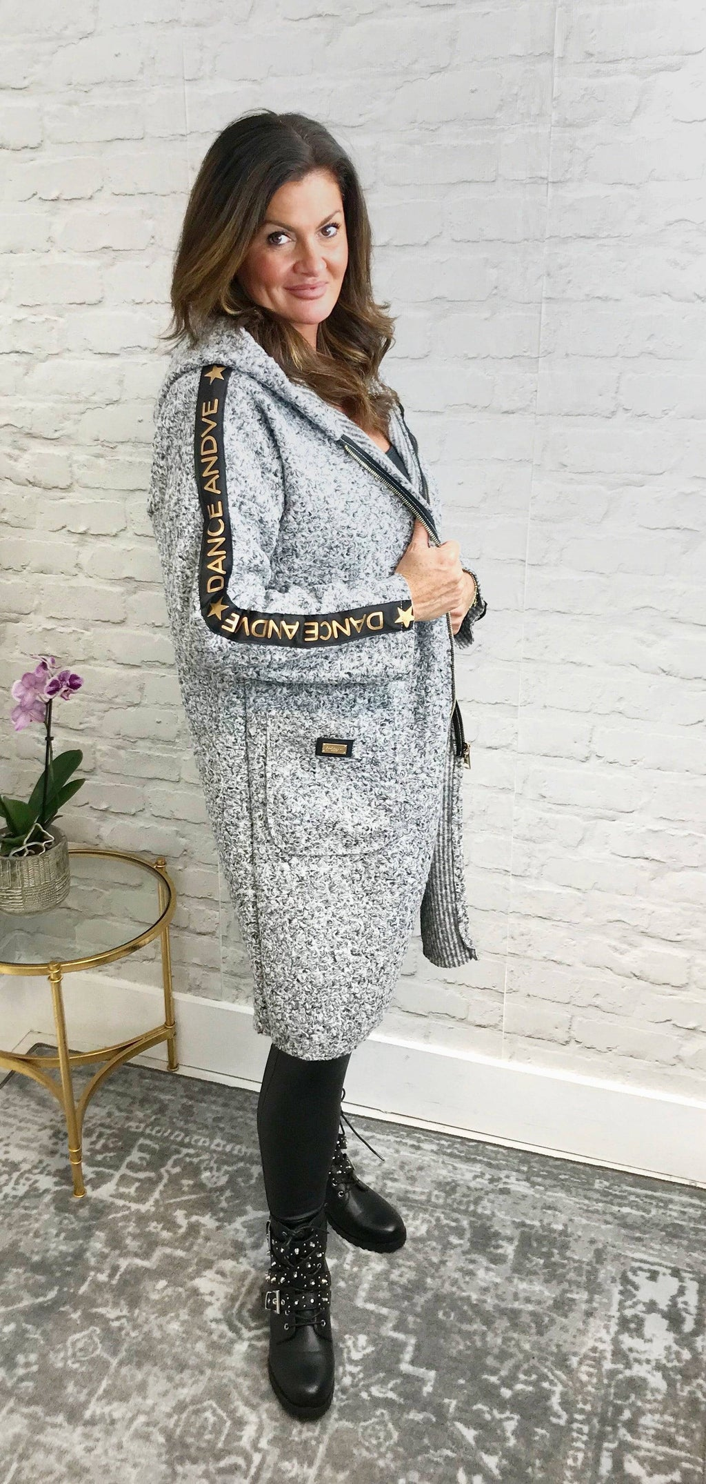 Grey 'Dance' Coat - Pure Ladies Boutique