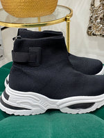 Load image into Gallery viewer, Black knit high tops - Pure Ladies Boutique