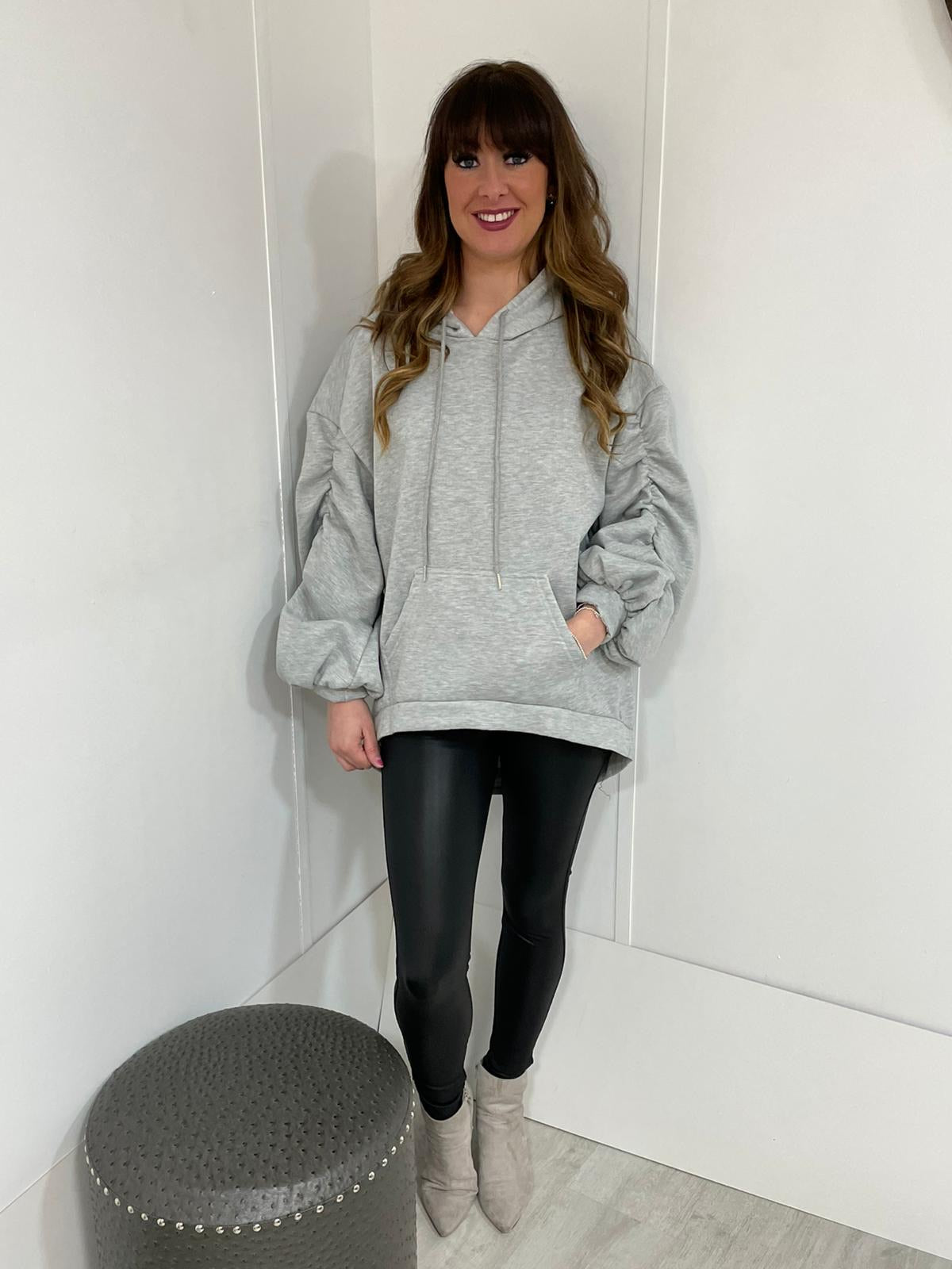 Puffy sleeved hoody - 3 colours - Pure Ladies Boutique