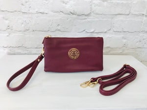 Clutch Bag - Burgundy - Pure Ladies Boutique