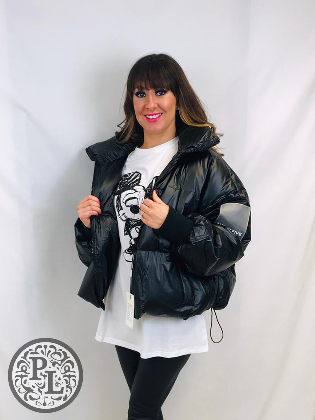 Black Oversized Puffer Jacket - Pure Ladies Boutique