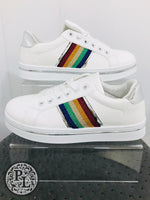 Load image into Gallery viewer, White Rainbow Trainer - Pure Ladies Boutique
