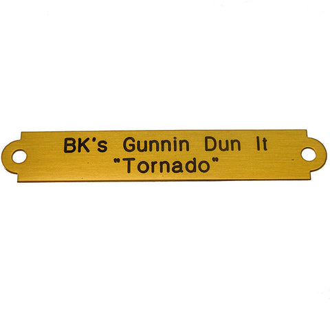 Two Line Halter Nameplates - Brass