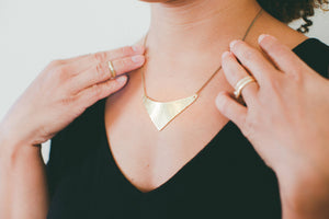 Necklace Brass - SHIELD