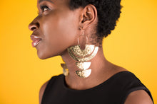 Load image into Gallery viewer, Earring Brass - SUN GODDESS