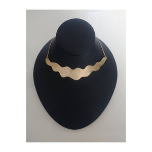 Necklace Brass - WAVE COLLAR