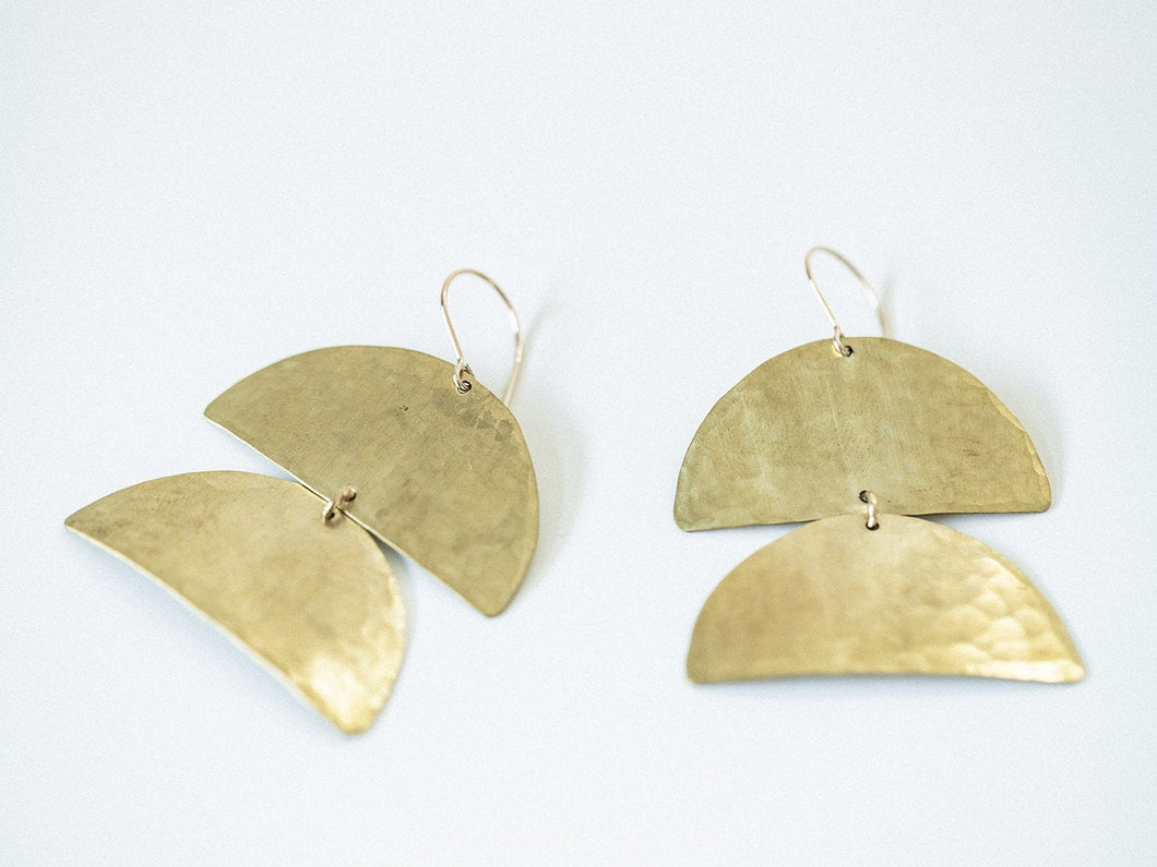 Earring Brass - CATAPILLAR MINI
