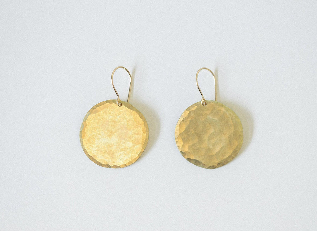 Earring Brass - DISC LARGE