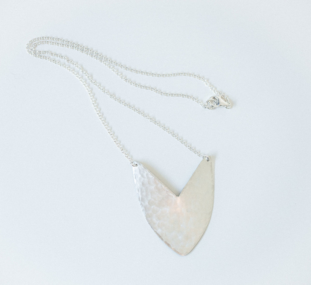 Necklace Silver - TULIP SHIELD