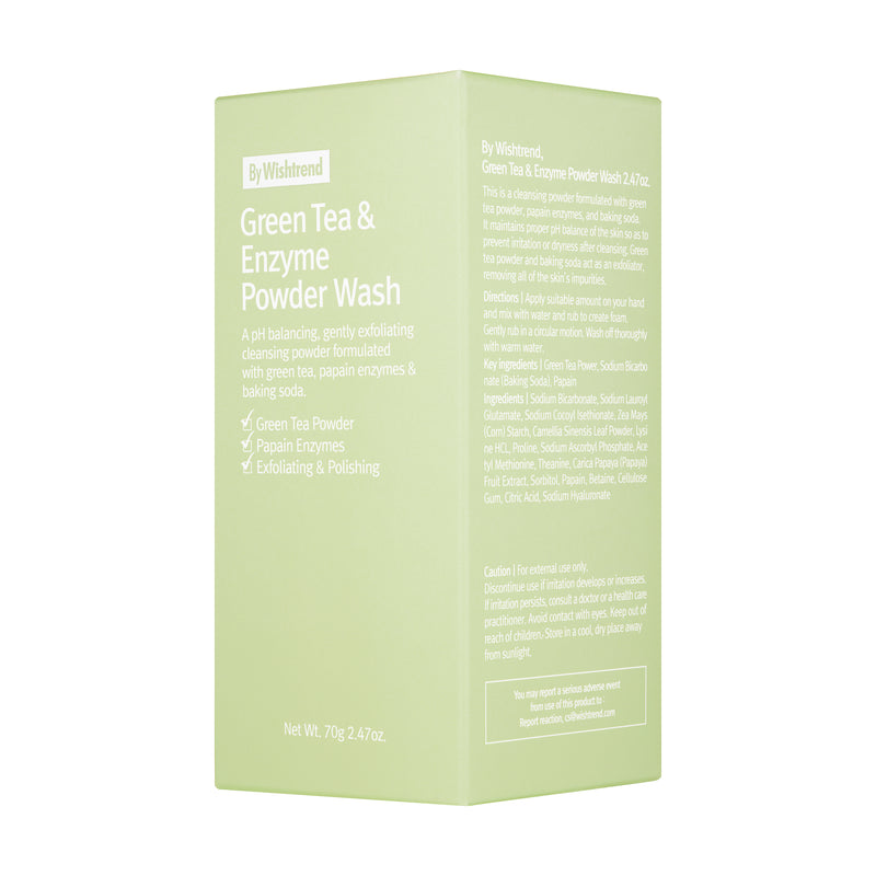 By Wishtrend Green Tea & Enzyme Powder Wash