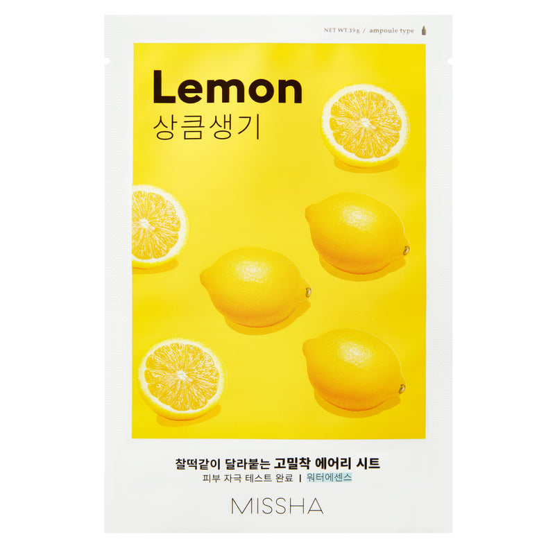 Missha Airy Fit Sheet Mask (Lemon) осветляющая тканевая маска