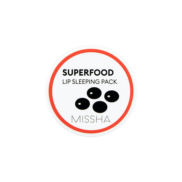 Missha Super Food Black Bean Lip Sleeping Pack ночная маска для губ