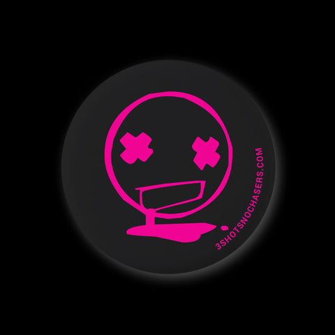 Toxic Black & Neon Pink Pin