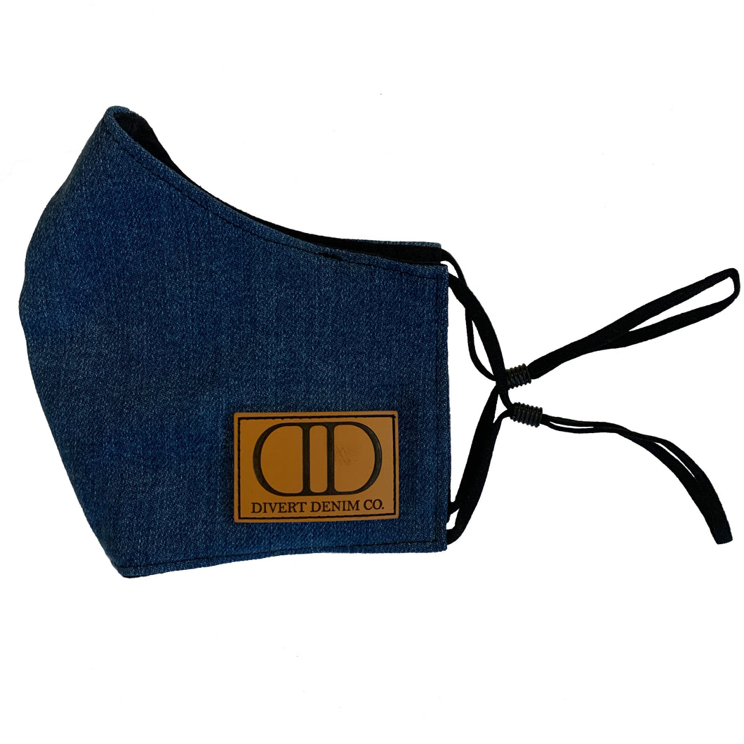 Divert Denim Branded Face Mask (S/M)