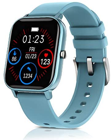 AMATAGE Smart Watch for Men Women(Blue)