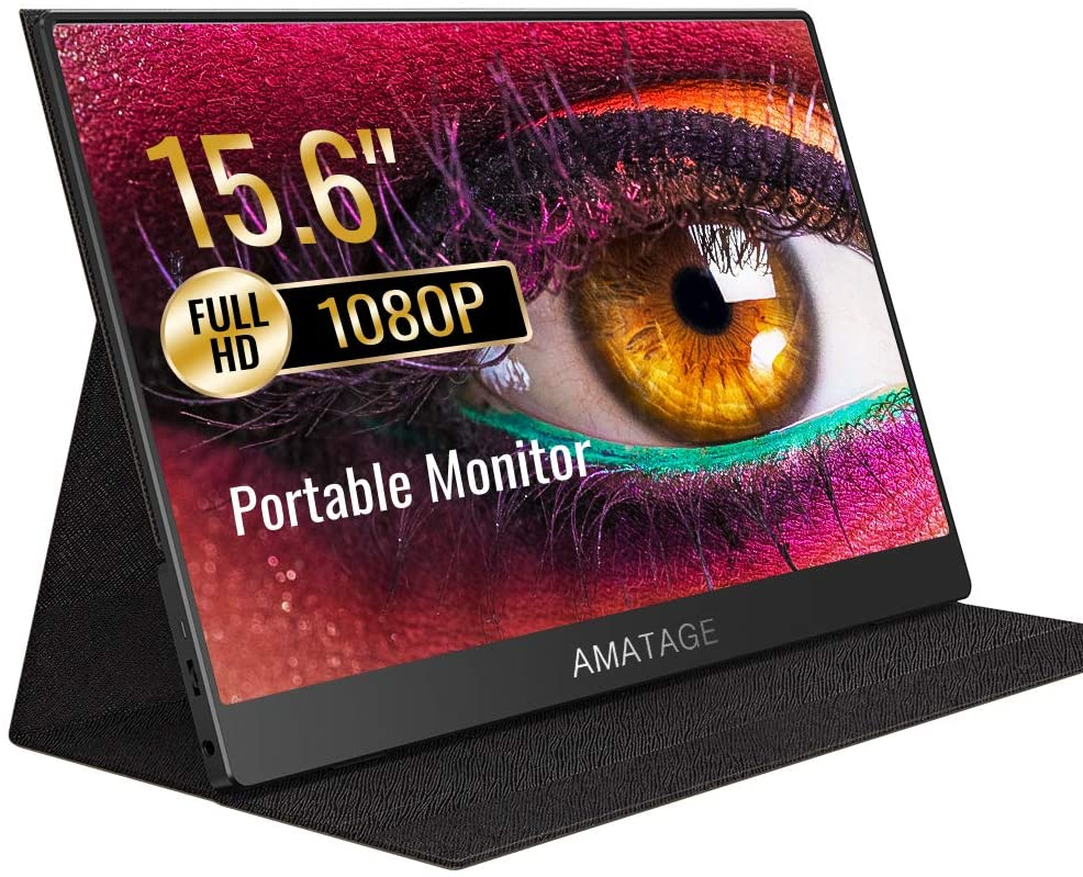 AMATAGE Portable Monitor 15.6 Inch for Laptop PC MAC Phone Xbox