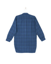 Load image into Gallery viewer, Indigo-Dyed Plaid Smock