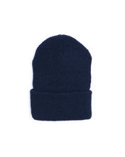 Load image into Gallery viewer, Wool Military Watch Cap - Navy