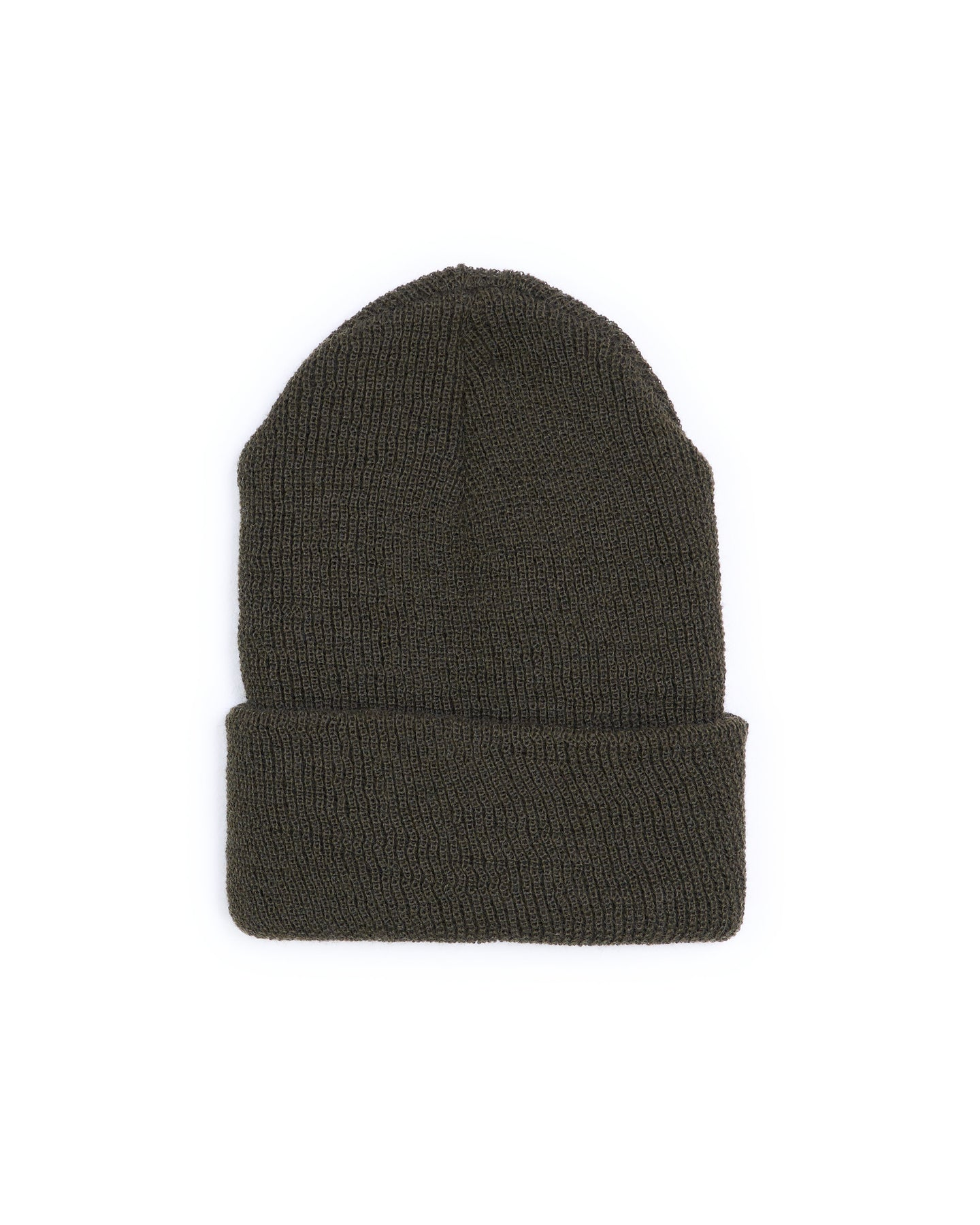 Wool Military Watch Cap - Green