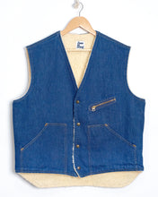 Load image into Gallery viewer, 1970s Sherpa Lined Denim Vest