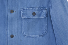 Load image into Gallery viewer, Blue Herringbone Chore Jacket