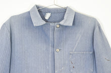 Load image into Gallery viewer, Faded Blue Grey Herringbone Chore Jacket