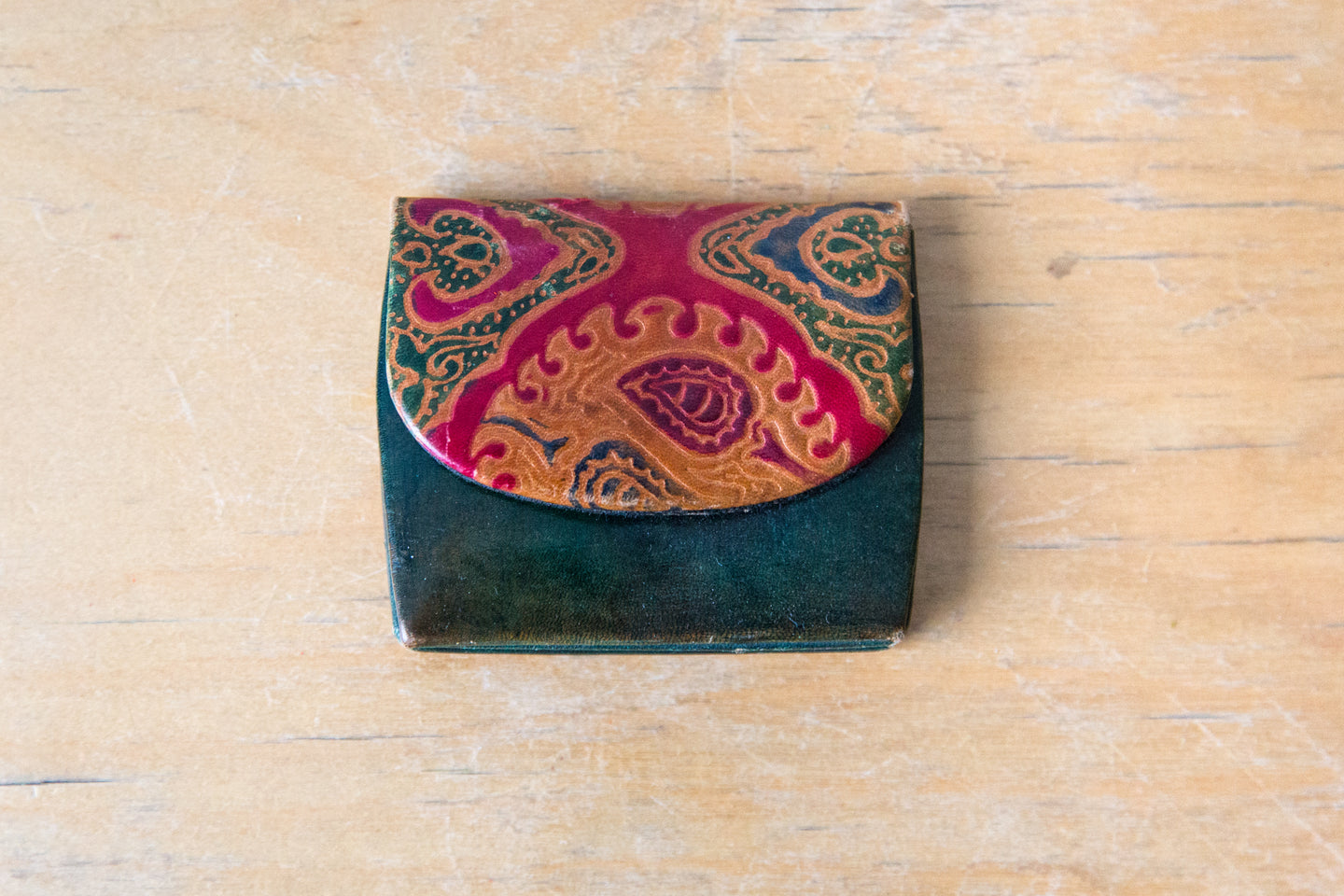 Leather Painted Coin Purse