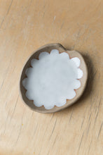 Load image into Gallery viewer, Scalloped Ashtray - Tan + White