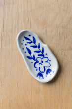Load image into Gallery viewer, Porcelain Ashtray - Blue Floral Small