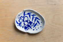 Load image into Gallery viewer, Porcelain Ashtray - Blue Floral For Two