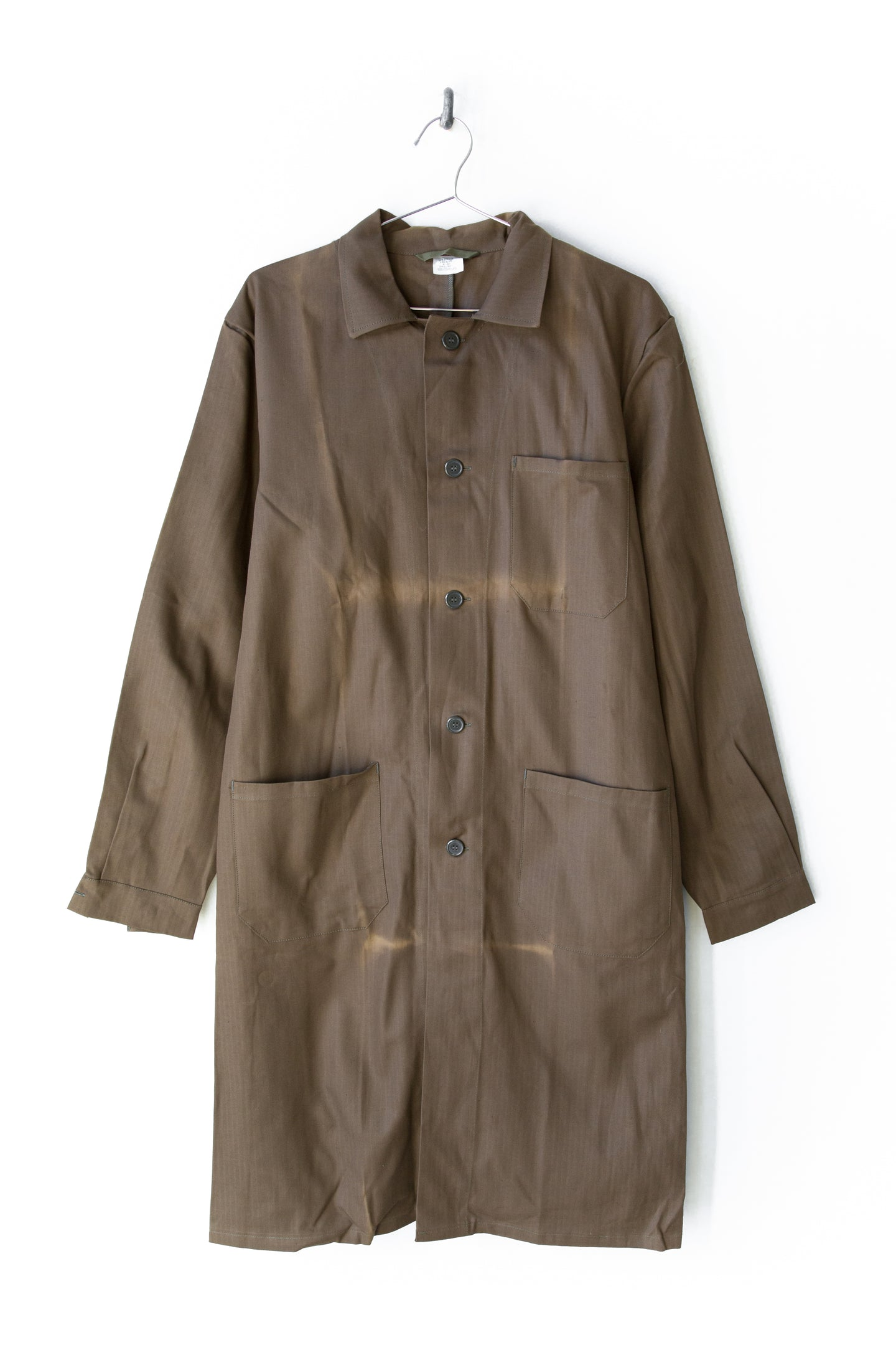 Sun Faded Chocolate Brown European Chore Coat