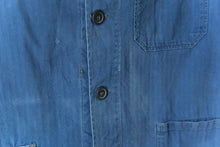 Load image into Gallery viewer, Faded Blue Herringbone Chore Jacket