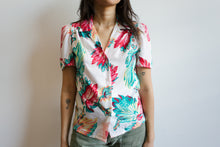 Load image into Gallery viewer, 1980s Puff Shoulder Blouse