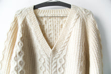 Load image into Gallery viewer, Wool Knit V-neck Sweater