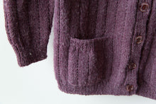 Load image into Gallery viewer, Purple Wool Cardigan