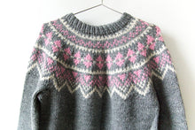 Load image into Gallery viewer, Nordic Sweater - Grey/Pink