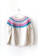 Load image into Gallery viewer, Nordic Sweater - White/Blue