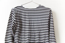 Load image into Gallery viewer, Russian Navy Striped Crewneck