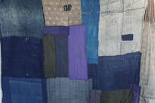 Load image into Gallery viewer, Indigo-Dyed and Patchwork Blanket