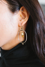 Load image into Gallery viewer, Silver and Brass Beaded Earrings