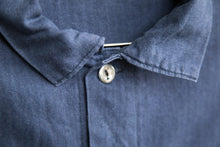 Load image into Gallery viewer, Light Navy Herringbone French Chore Jacket