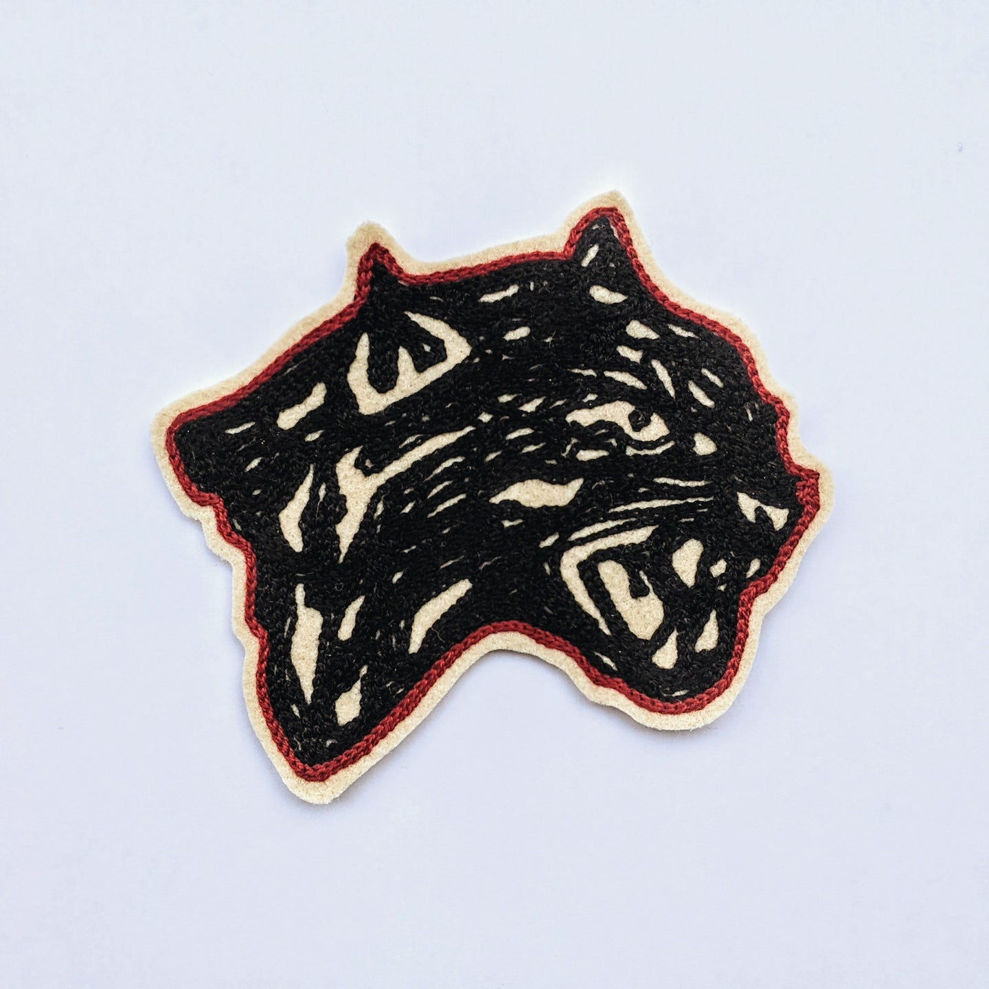 Chain Stitch Letterman Patch - Panther